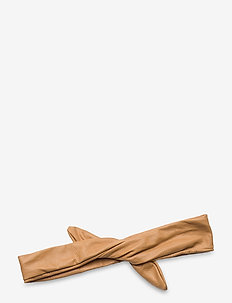 Leather Hairband Wire - hårband - camel