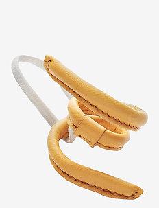 Leather Band Short Narrow Bendable - håraccessoarer - yellow