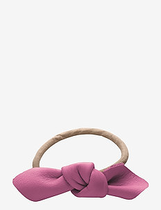 Leather Bow Small Hair Tie - beauty giveaways - fuschia