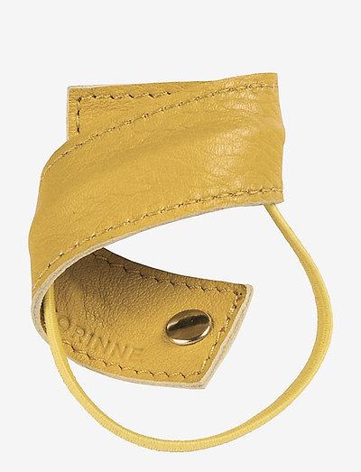 Leather Band Short Bendable - hårklämmor - yellow