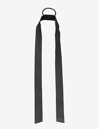 Leather Band Long - hiusasusteet - grey