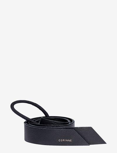 Leather Band Long - hårband - black