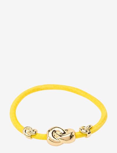 Hair Tie Three Knots - hårsnoddar - yellow