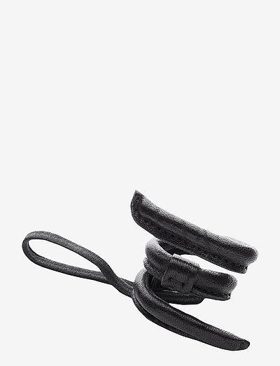 Leather Band Short Narrow Bendable - accessories - black