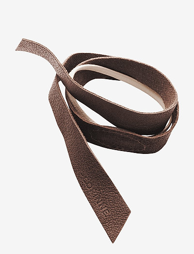 Leather Band Short One Layer - hår accessories - brown