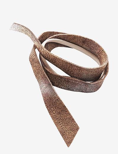 Leather Band Short One Layer - hårband - metallic
