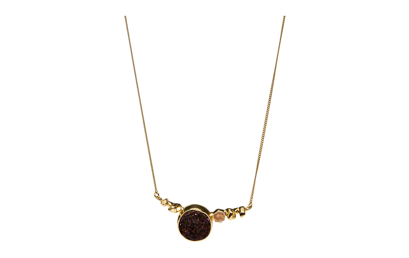 Cornelia Webb STONED NECKLACE M - .52 GOLD PLATED BRASS