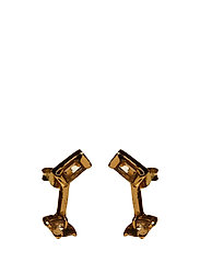 SLIZED ROD STUD EARRING SMALL - GOLD PLATED