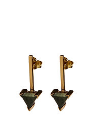 SLIZED ROD STUD EARRING MEDIUM - GOLD PLATED