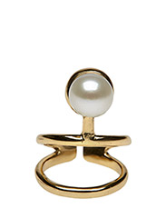 PEARLED KNUCKLE RING CLASSIC - 52 GOLD PLATED
