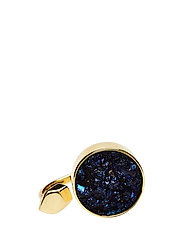 STONED OPEN RING MEDIUM - 52 GOLD PLATED