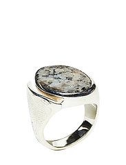 MOLDED STONE SIGNET RING - ROUND - S
