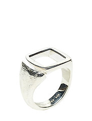 MOLDED CUTOUT SIGNET RING -SQUARE -S