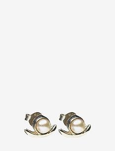 REFINED PEARL SINGLE EARRING - 21 STERLING SILVER
