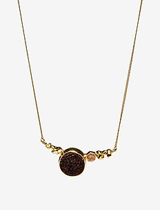 STONED NECKLACE M - .52 GOLD PLATED BRASS