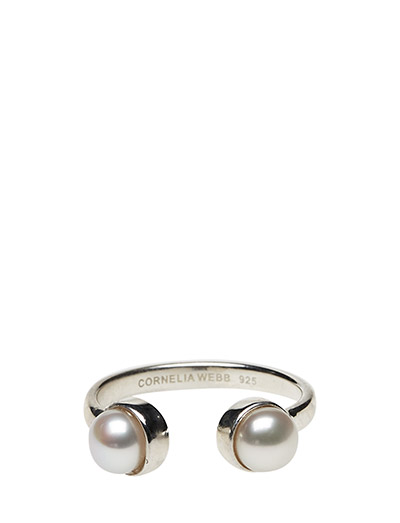 PEARLED OPEN RING X-SMALL CLASSIC - 21 STERLING SILVER