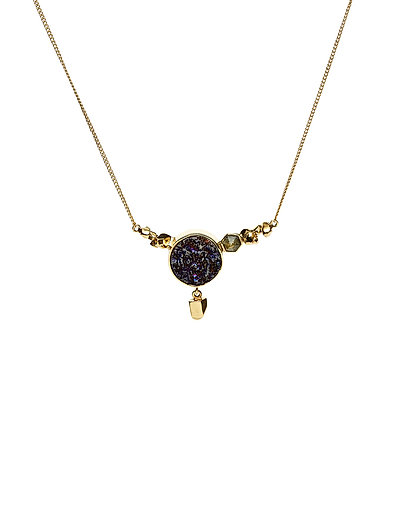 STONED NECKLACE MEDIUM - 52 GOLD PLATED