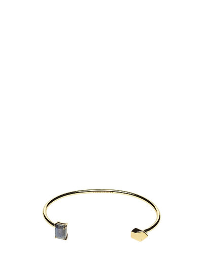 STONED OPEN CUFF SMALL - 52 GOLD PLATED