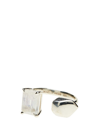 STONED OPEN RING XS - 21 STERLING SILVER