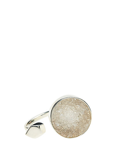 STONED OPEN RING MEDIUM - 21 STERLING SILVER