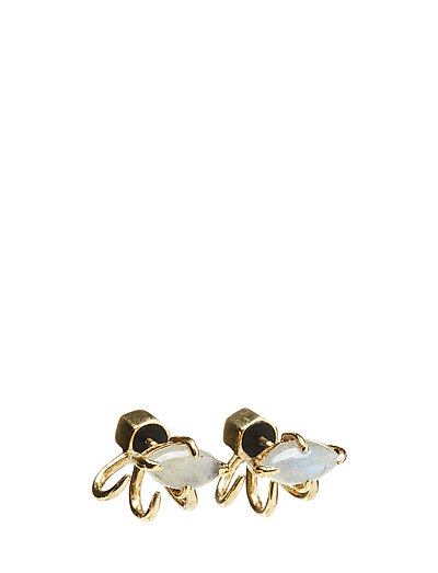 STONED MINI SPIDER EARRING - 52 GOLD PLATED