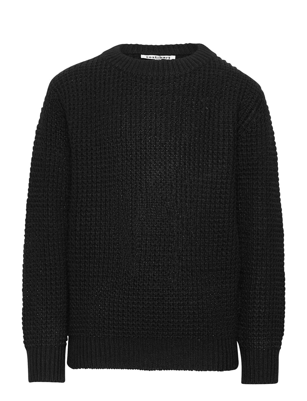 Image of Kave L_s Knit Pullover Pullover Striktrøje Sort Costbart (3471879385)