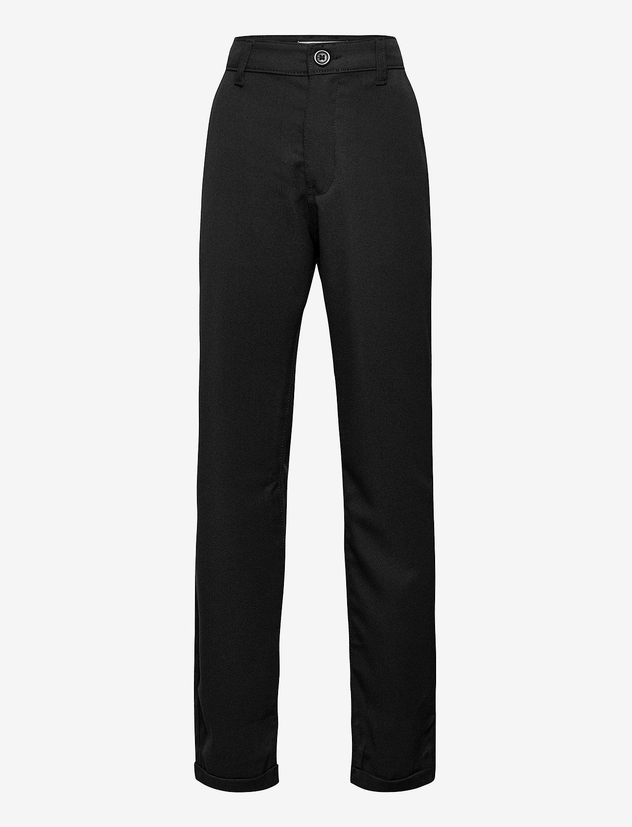 Costbart - CHRINS CHINNO CROPPED PANTR - pantalons - black - 0