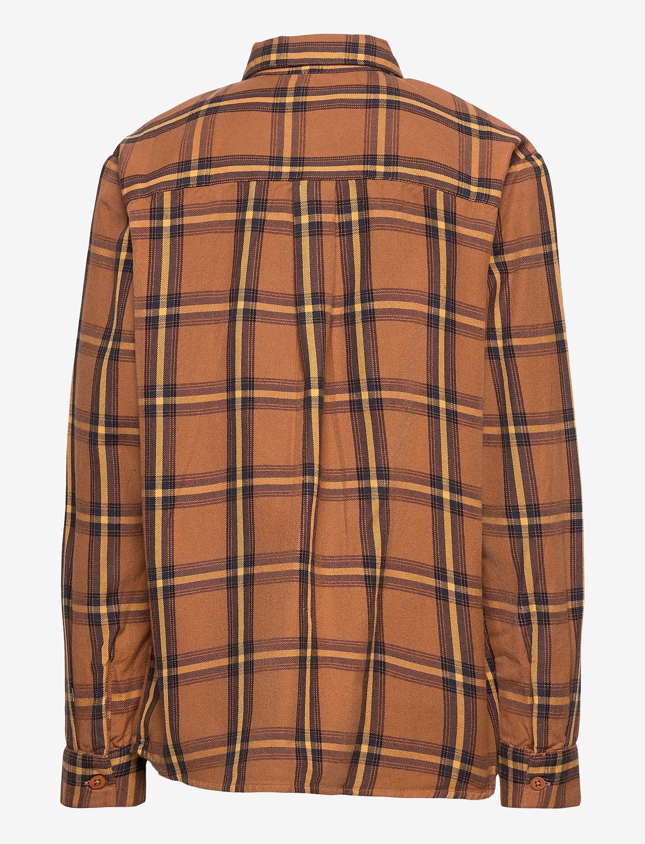 Costbart - KENNETH L_S CHECK SHIRT - overhemden - chipmunk - 1
