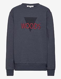 KRESTEN L_S SWEAT - sweatshirts - 19-4014 ombre blue