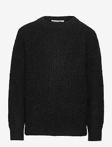 KAVE L_S KNIT PULLOVER - knitwear - black
