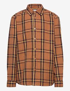 KENNETH L_S CHECK SHIRT - shirts - chipmunk