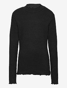 KWAMIE L_S TEE - langermede t-skjorter - black