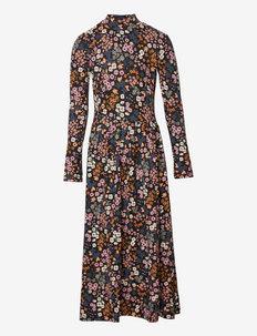 CBOGENIA LS MAXI DRESS - dresses - china blue
