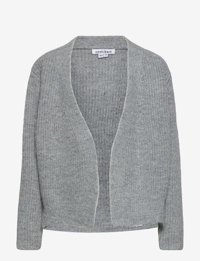 CBMELLA LS CARDIGAN - cardigans - light grey melange