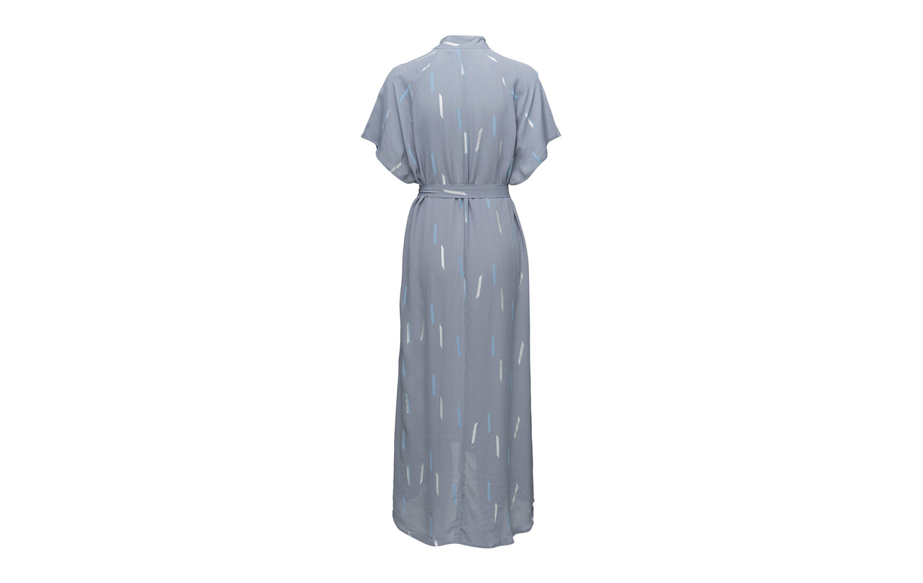 100 And Copenhagen Eyelets Dress Steel W Coster Big Rai Blue Rain Viscose Summer wqFAnSxCP