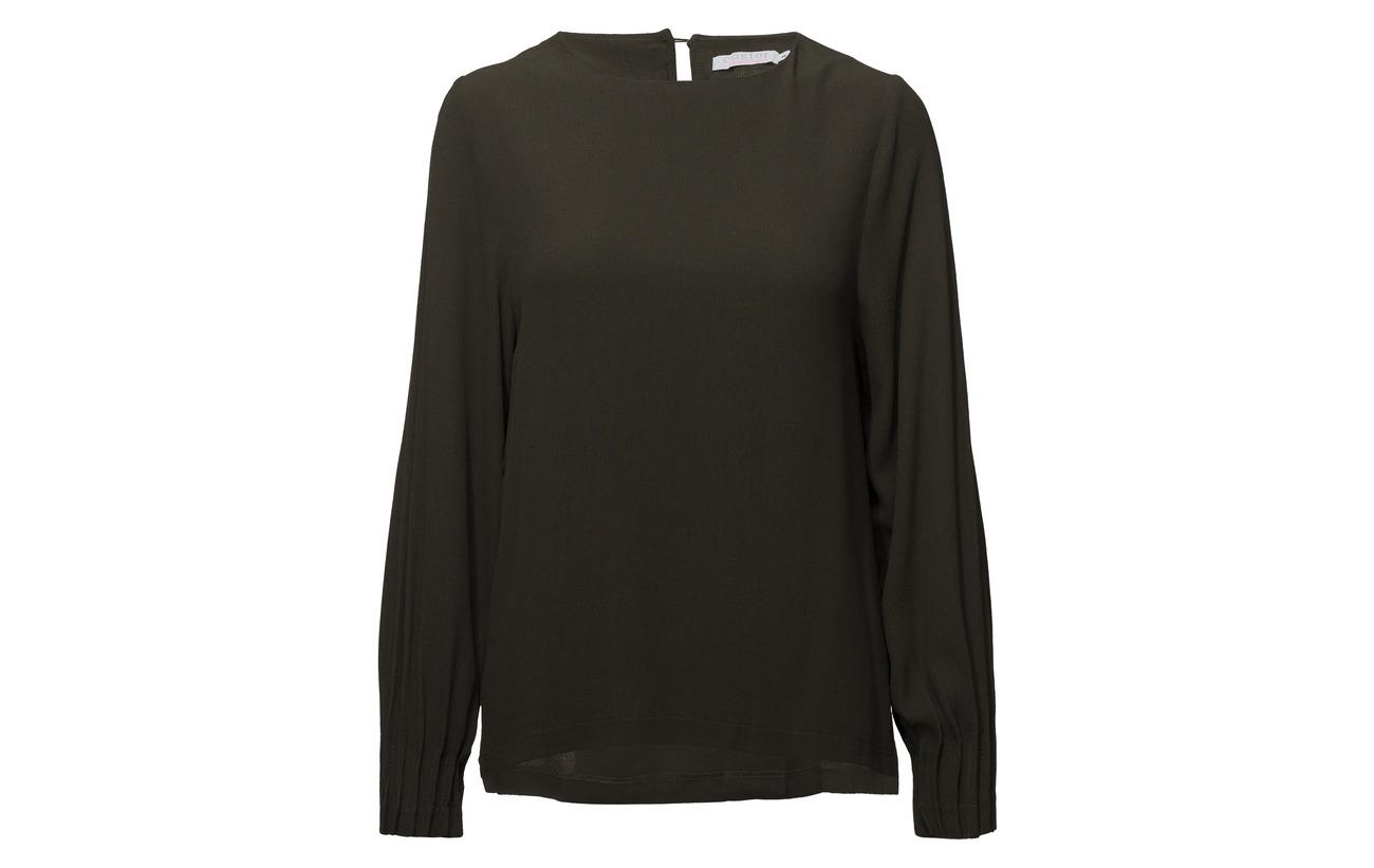 Coster Viscose W Blouse Pleated Cuff Black 100 Copenhagen 0rvq0