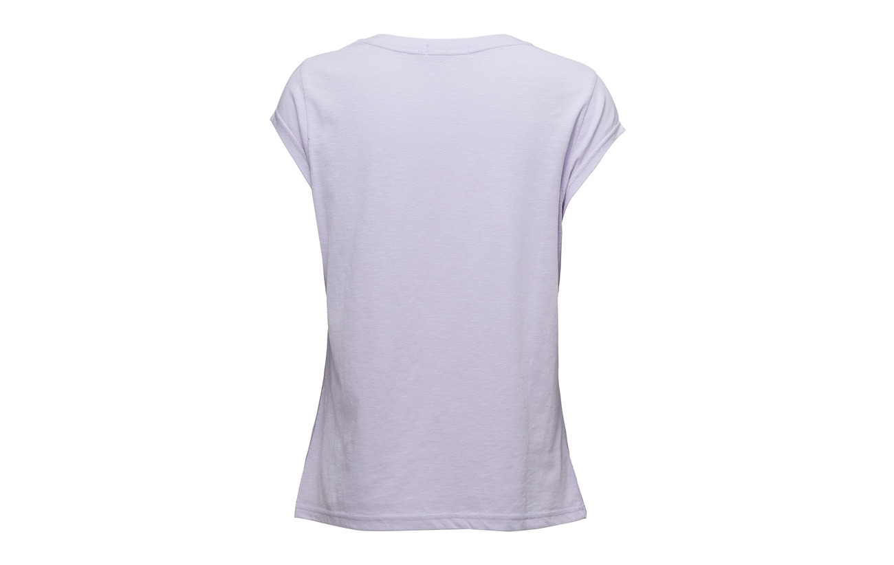 Pastel Polyester Copenhagen T Flock Coster W Lilac shirt 40 In Coton 60 apPxHqw
