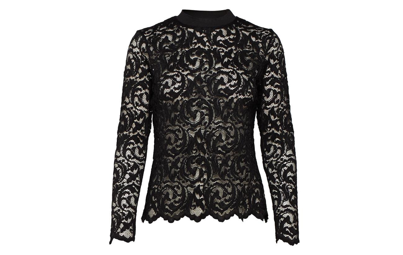 Black Coton Copenhagen Details Rib Blouse Lace Polyamide In W Coster 60 40 xOzUqBn6w