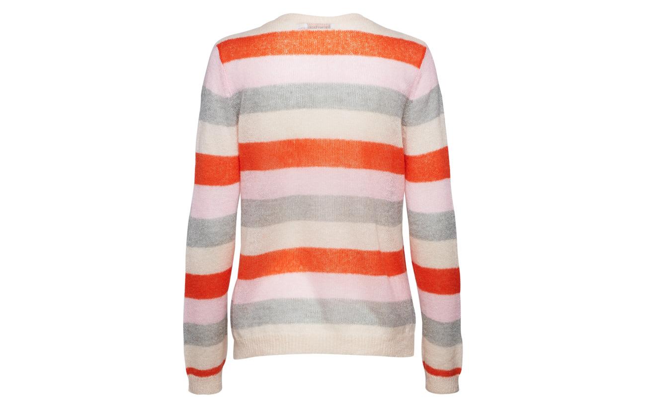 Laine Knit Cloud W Nylon Acrylique Copenhagen 15 Sweater 8 Stripes Mohair Orange Pink In 30 Coster 47 Shocking xqaIwg6Xxz