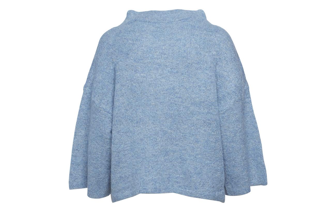 W Laine Mohair High Steel Melange Blue Elastane In Mohair 27 Polyester Copenhagen 5 34 Sweater Coster Neck Iq7xTSB
