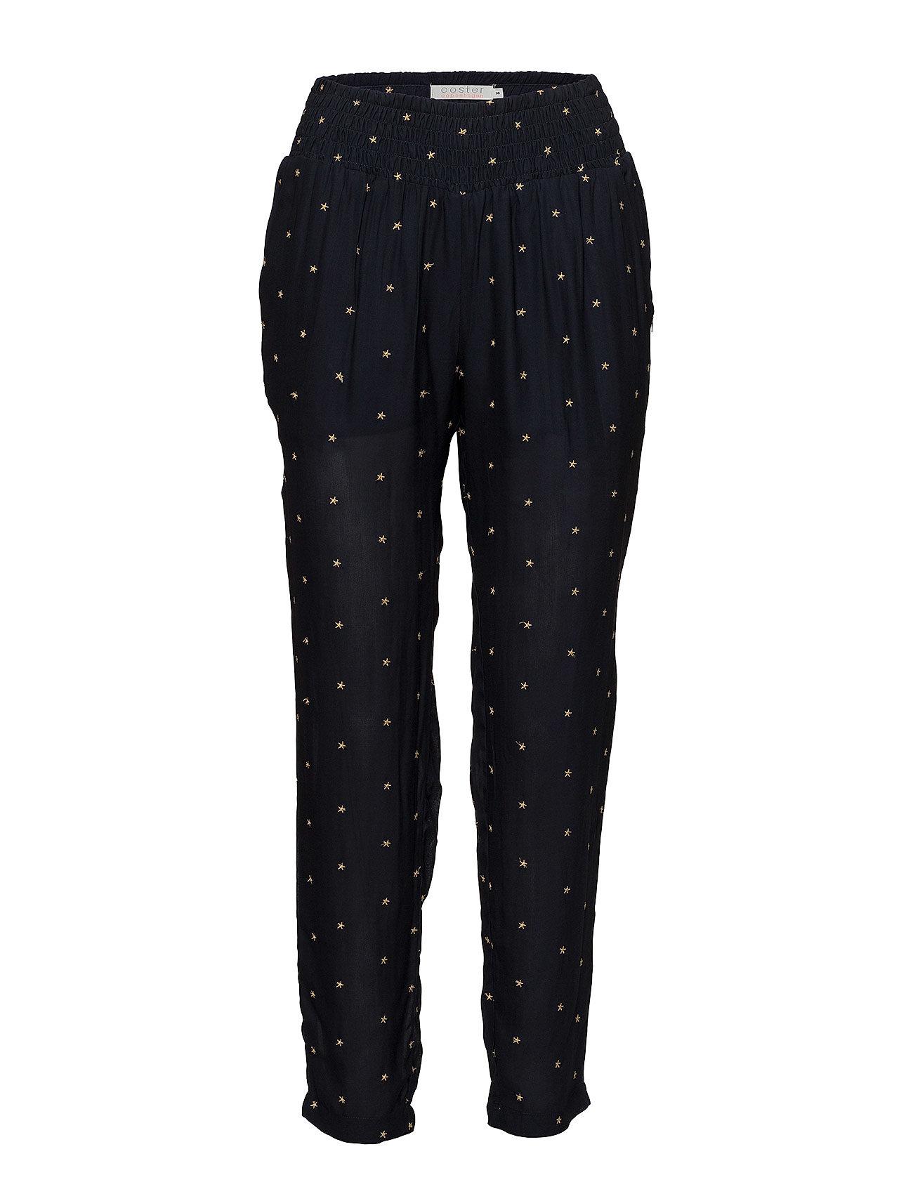Coster Copenhagen Trousers w. embroideröd stars Byxor