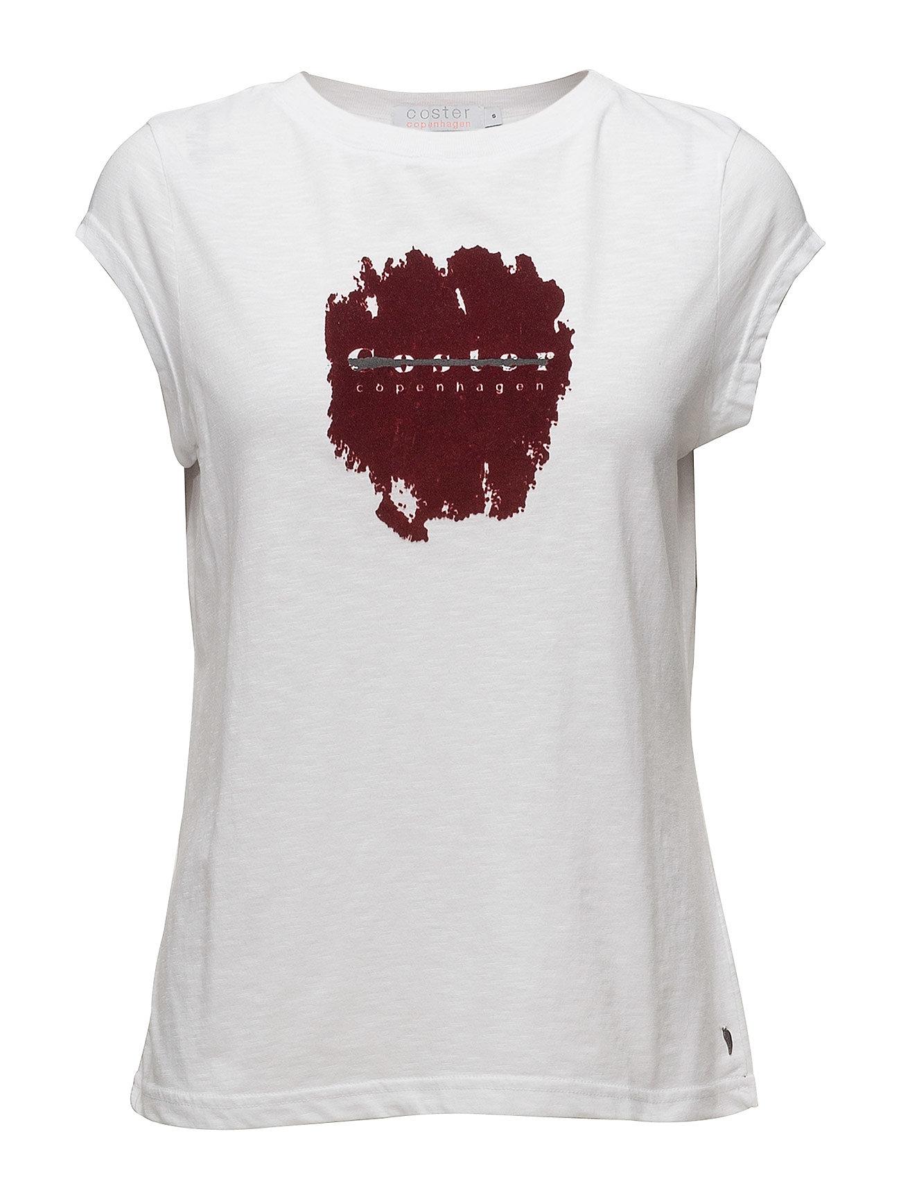 T-Shirt W. Coster In Flock - Coster Copenhagen