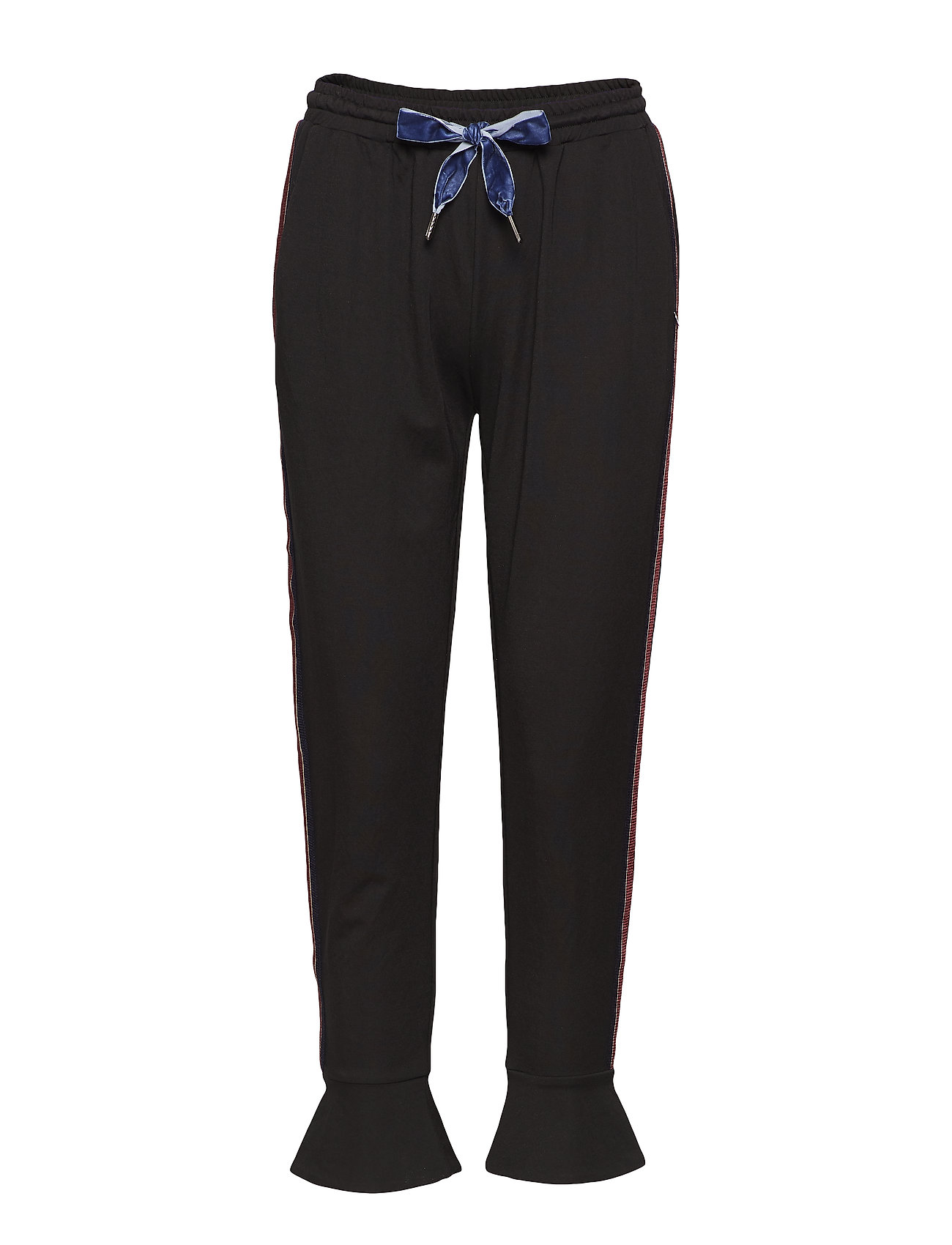 Coster Copenhagen Sweatpants w. volant cuff - BLACK