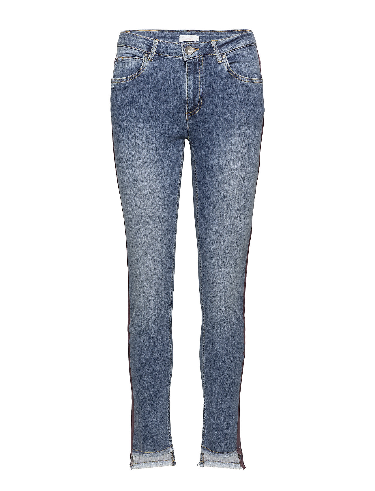 Coster Copenhagen Jeans - relaxed fit, ankle lenght w. little flare and stripe - CLASSIC INDIGO