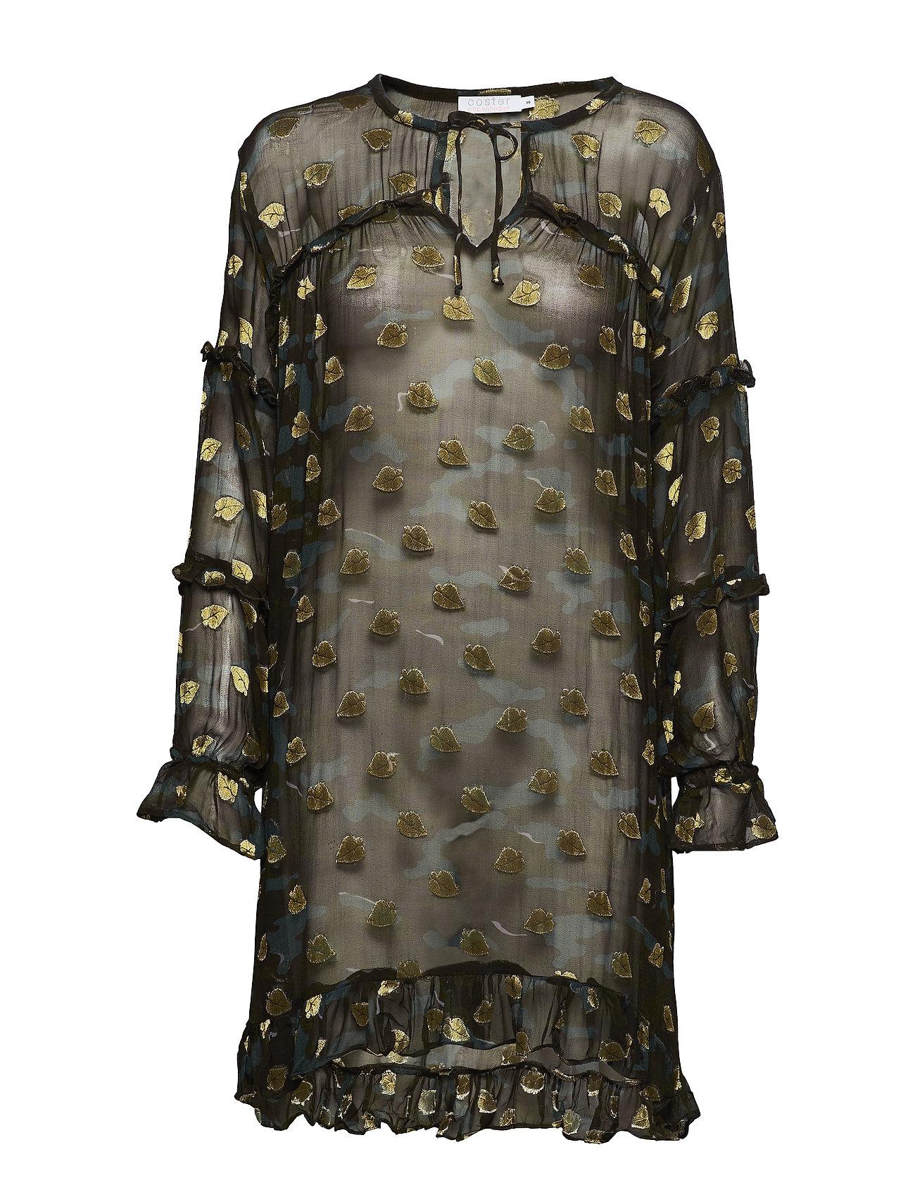 Coster Copenhagen Dress in camouflage print w. ruffles Klänningar