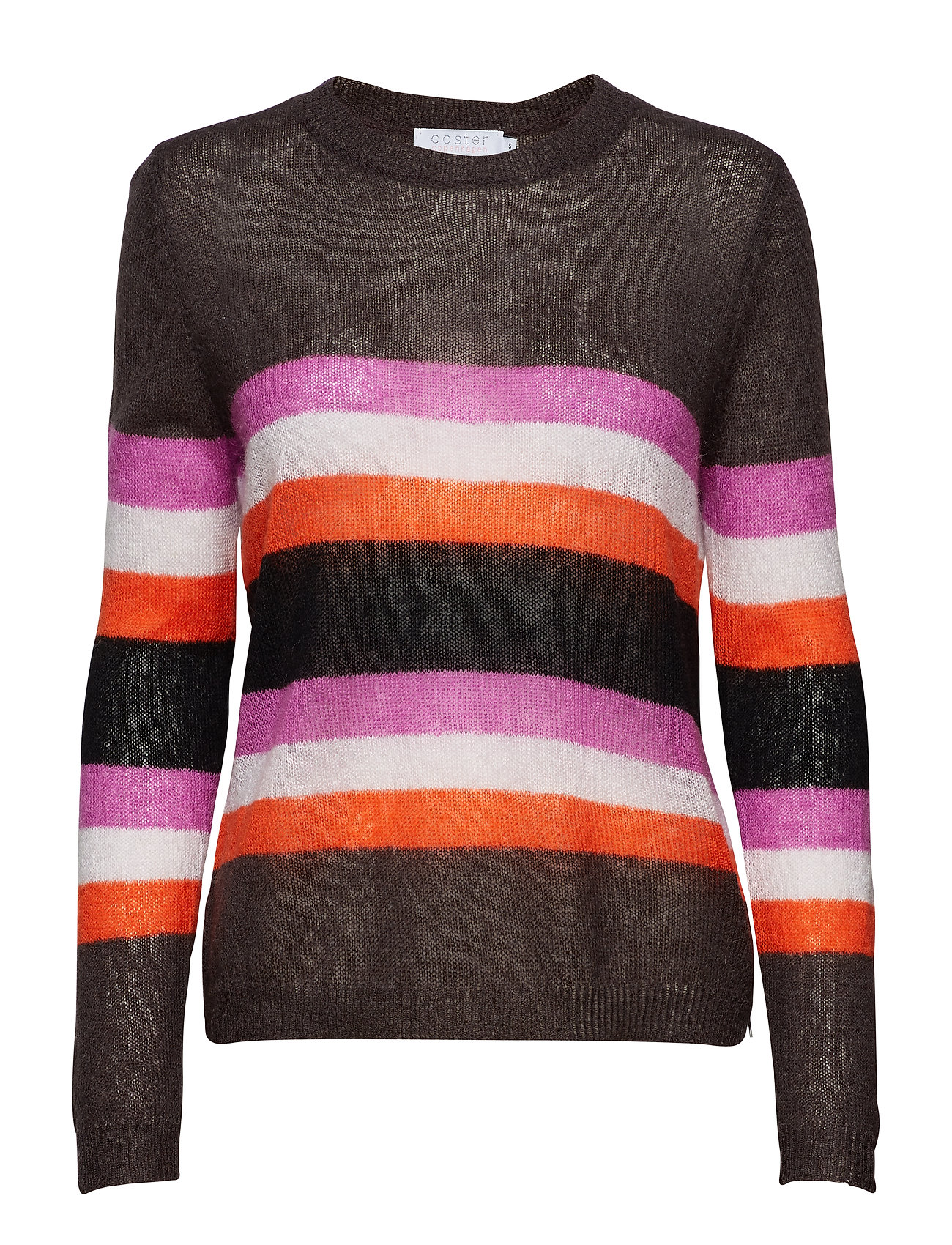 Coster Copenhagen Sweater w. stripes Ögrönlar