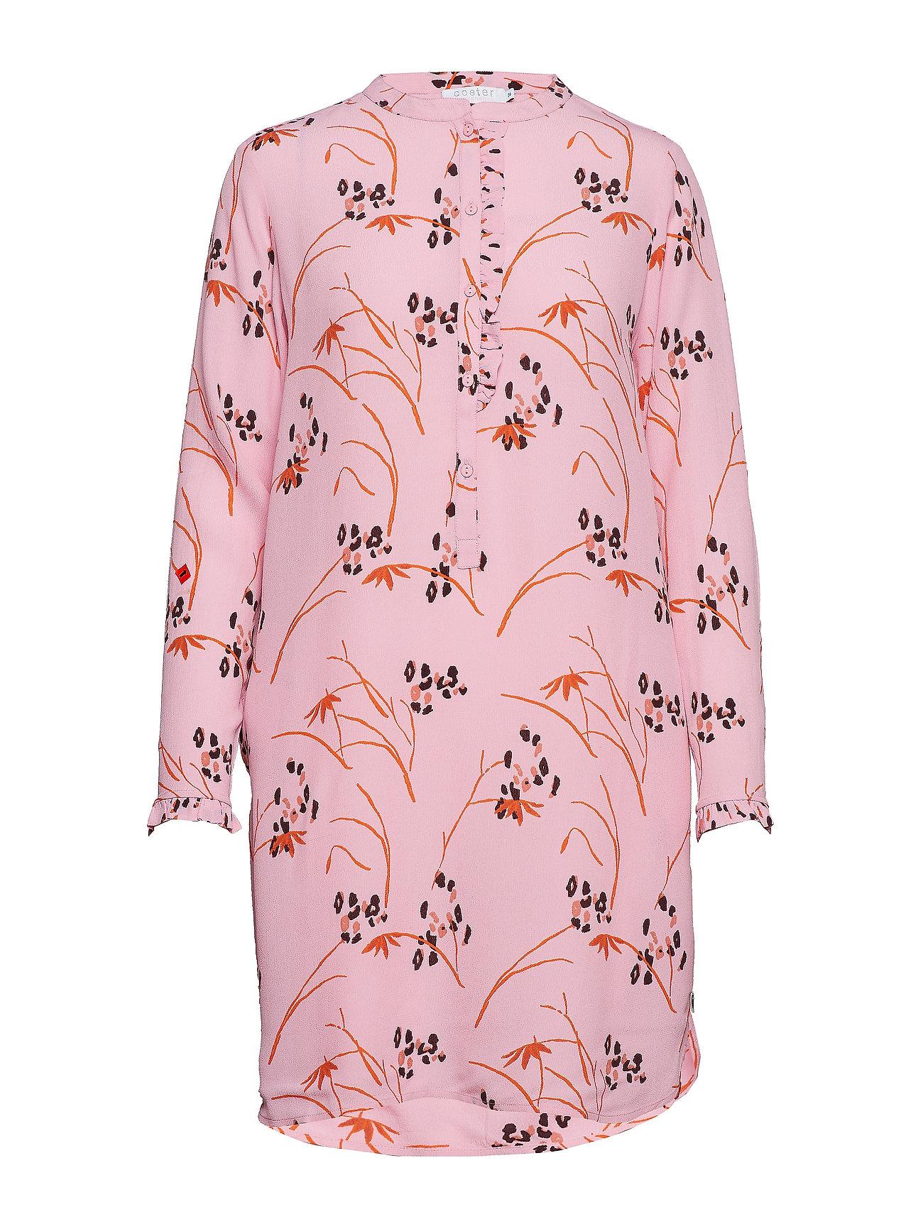 PrintpinkCoster Hibiscus Dress Copenhagen Shirt In 8nwkOP0X
