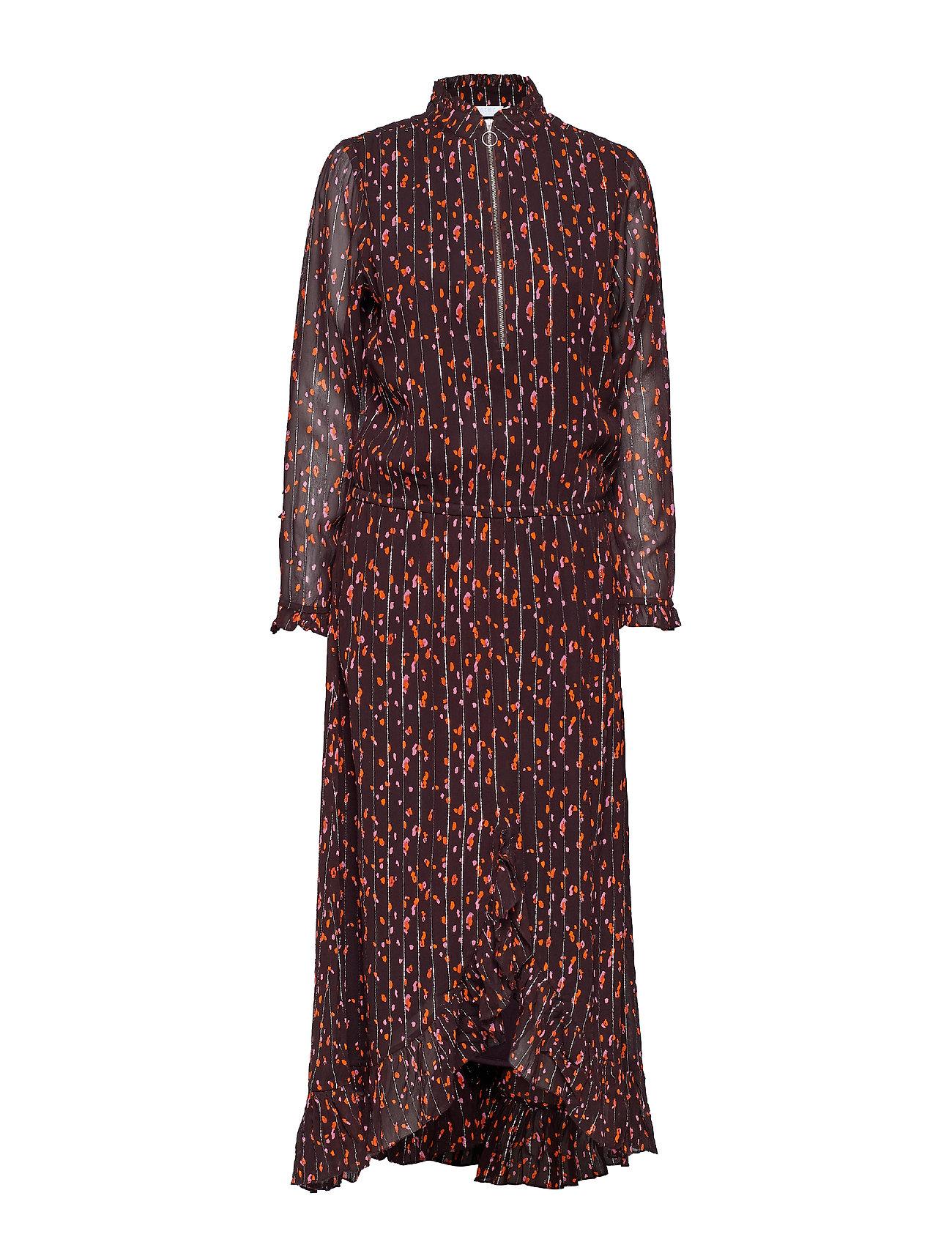 Dress In Seeds Print W. Ruffle - Coster Copenhagen