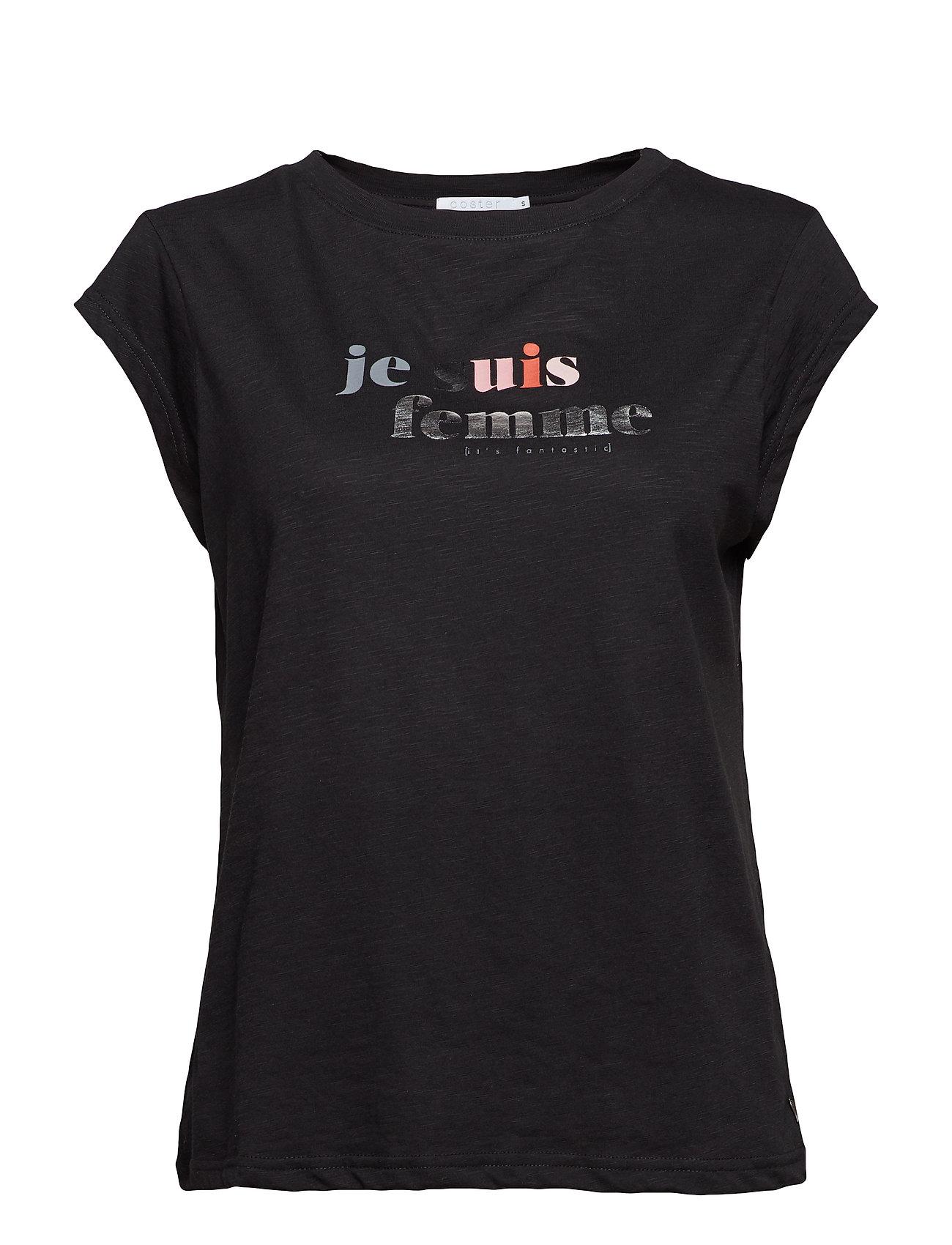 T-Shirt W. Je Suis Femme Print - Coster Copenhagen