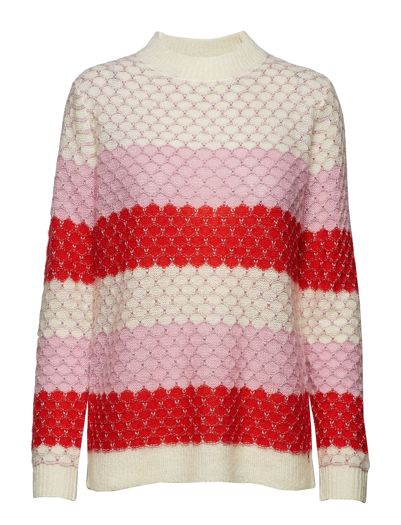Coster Copenhagen Sweater in mohair w. color mix and - BEGONIA MULTI STRIPE